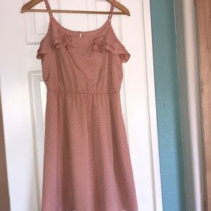 Lauren Conrad dress Rose gold
